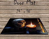 Halloween Skull Door Mat