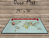 Christmas World Theme Door Mat