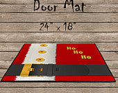 Santa's Belt Door Mat