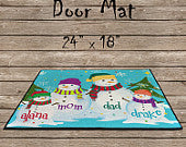 Snow Family Door Mat