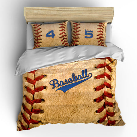 Vintage Baseball Theme Bedding Set Duvet Or Comforter
