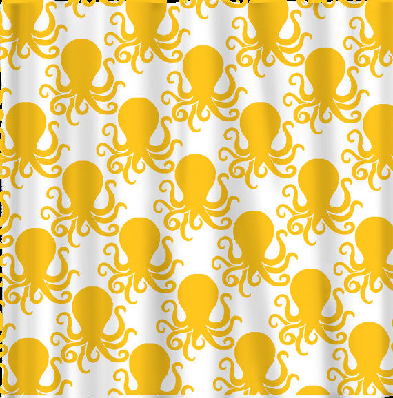 Octopus Theme Shower Curtain-Many Colors Selection