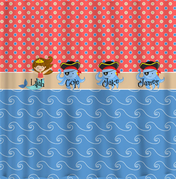 At The Beach Theme with Mermaid, Octopus and Pirate