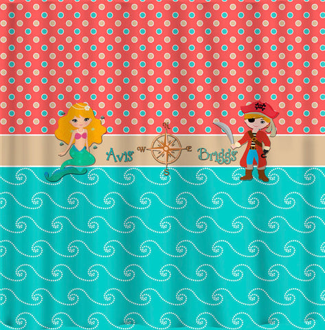At The Beach Theme with Mermaid and Pirate