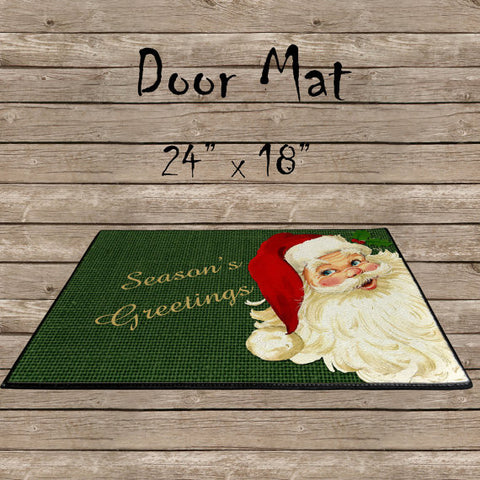 Season's Greetings Door Mat