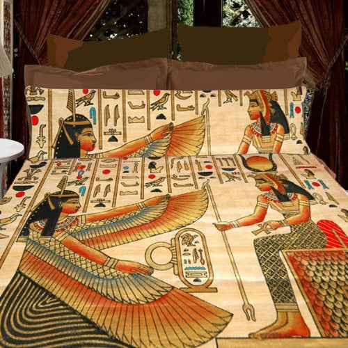 Egyptian Designer Beddin - Duvet  or Comforter and two matching Shams, Queen or King Size