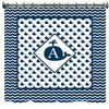 Monogrammed Whaling Along II Shower Curtain - Personalized