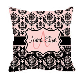 Personalized Throw Pillows - Custom with your Name or Initials -  MINUET various Colorways