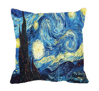 Starry Night Throw Pillow Covers- two sizes