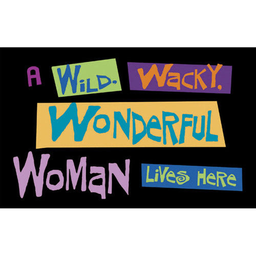 Wild Wacky Wonderful Woman Door Mat - 24x18