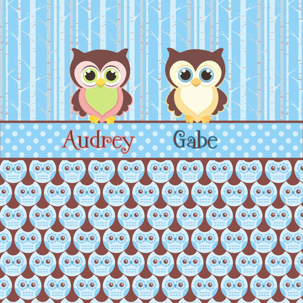Personalized Shower Curtain - Custom with your Name or Initials - HOOT HOOT