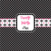 Personalized Shower Curtain - Black-Pink-White Custom design
