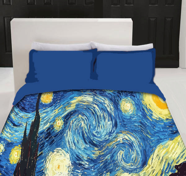 Starry Night Custom Duvet Cover - AVAILABLE Twin Size, Queen or King