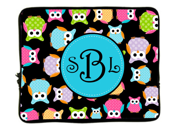 Whimsical Owls Laptop Sleeves