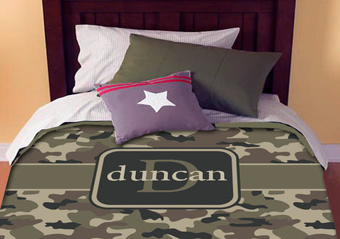 Personalized Custom Camo  Bedding Duvet Cover Full-Queen Size - Duvet cover ONLY