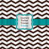 Custom Personalized Chevron Shower Curtain