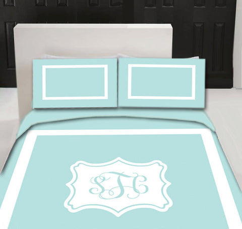Simplicity  Designer  Duvet Cover and shams - Personalized - Any color of your choice- available sizes Twin, QUeen or King