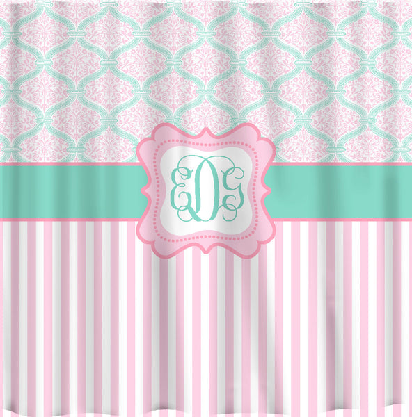 Custom Personalized Dream Damask & Striped Shower Curtain - your colors