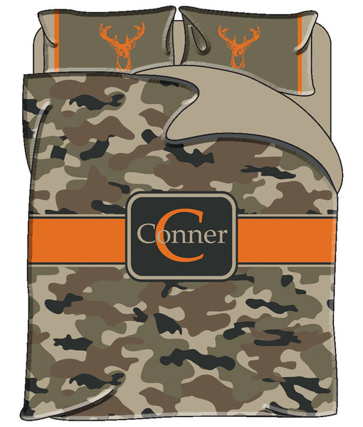 Personalized Custom Camo Bedding Duvet Cover - Available Twin, Full/Queen, King Size SET