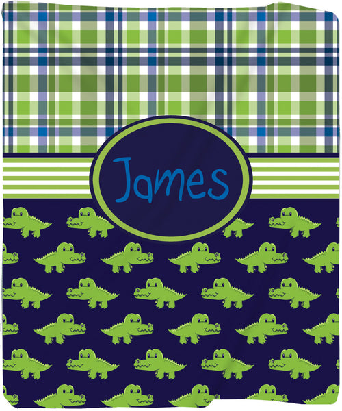 Personalized Later Gator Plush Fleece Blanket - Other Themes Available