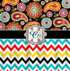 Gypsy Paisley  & Chevron -Personalized Your Initial(s) and/or names