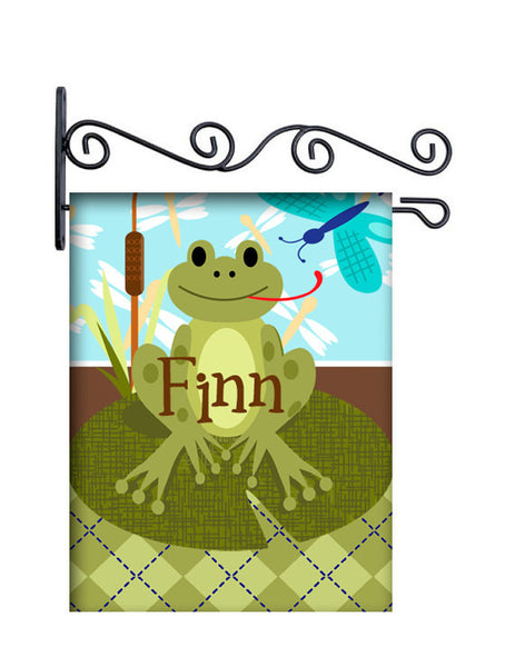 Lily Pad Frog Personalized Yard Flag