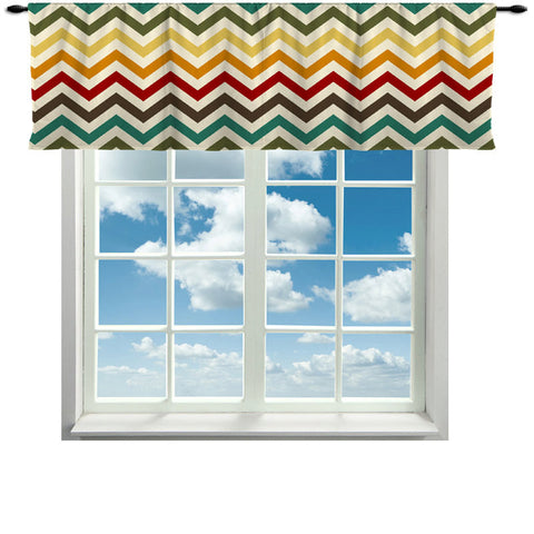 Valance Warm Chevron Valance Curtain - 14x60