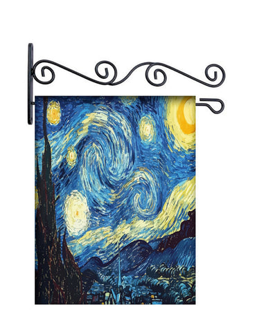 Starry Night Custom Personalized Yard Flag - 13.5 by 18.5 inches - your name and or initial
