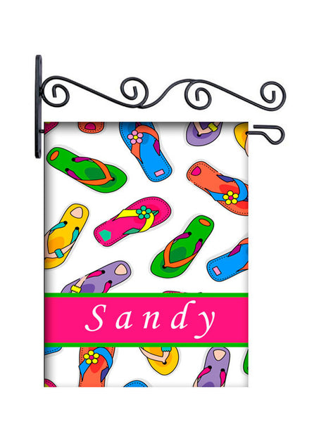 Flip Flops Personalized Yard Flag