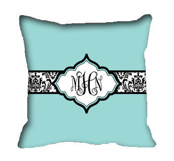 Damask Inspired Throw Pillow & Pillowcase