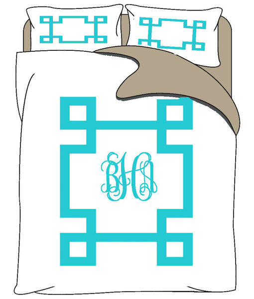 Simplicity Inverted Greek Key Bedding
