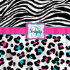 Personalized Shower Curtain - Cheetah and Zebra Custom design - Any Color your choice