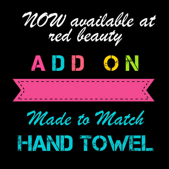 Custom Hand Towel - 16x30 inches - Designed to match any shower curtain design