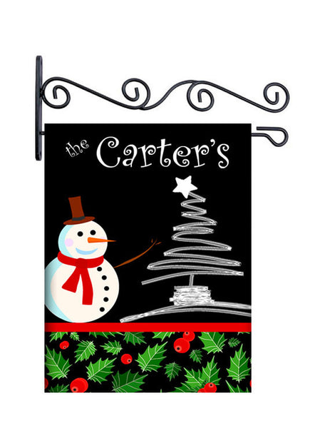 Holly Jolly Christmas Personalized Yard Flag