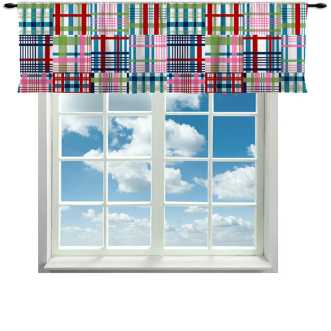 Madras Valance  or Curtain -Sizes in Drop Down- send note for quotation