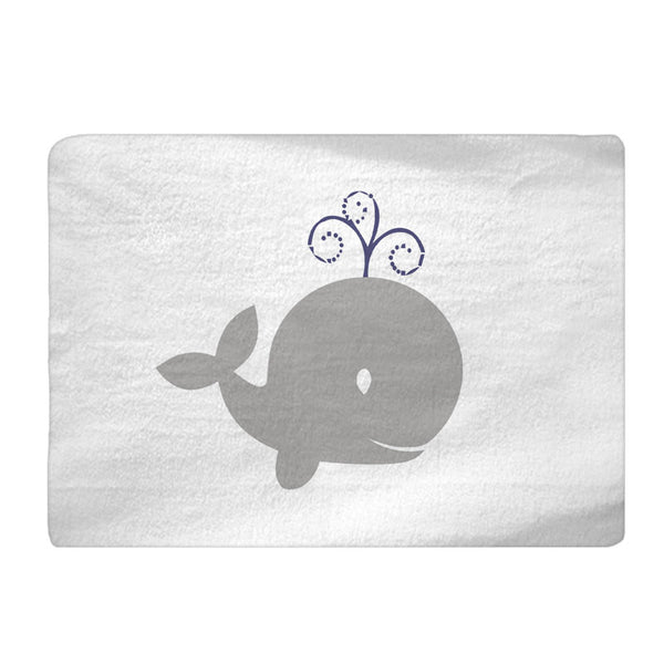 Personalized  -Grey Whales Nautical Theme Bath Mat- Available any color