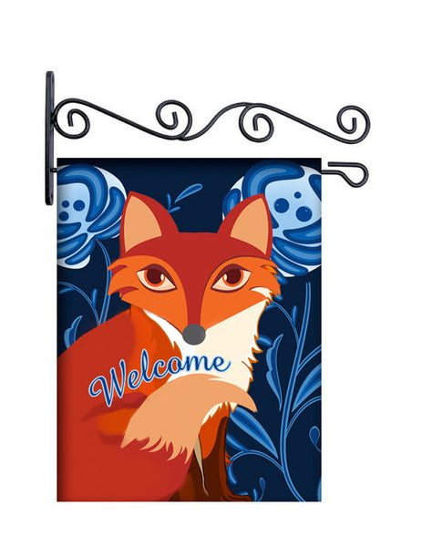 Lil Red Fox Dutch Blue Personalized Yard Flag