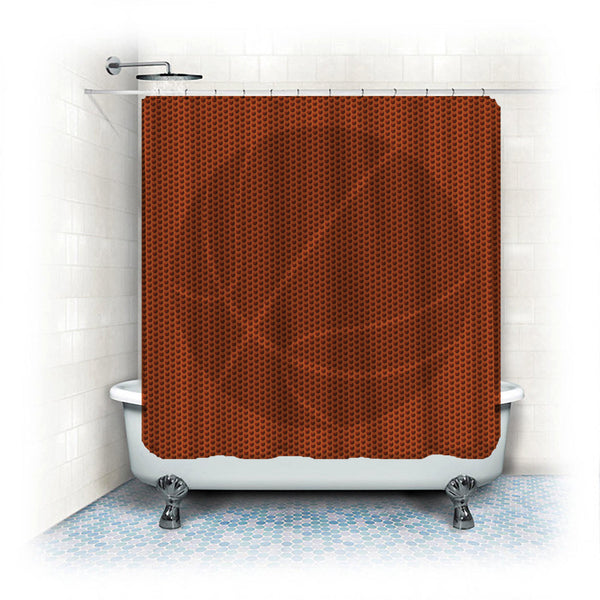 Textured Basketball Shower Curtain- Add Your monogram