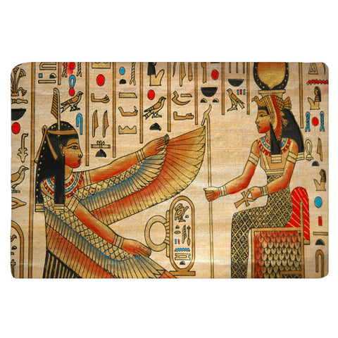 Custom Furry Egyptian Theme Bath Mat - 30x20 or 48x36