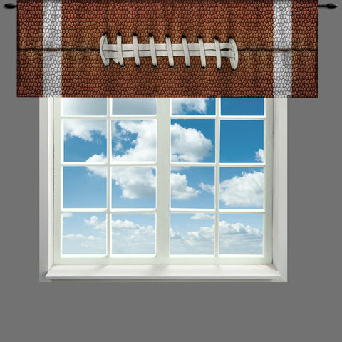 Custom Window Curtain or Valance, Football Texture - Any Size