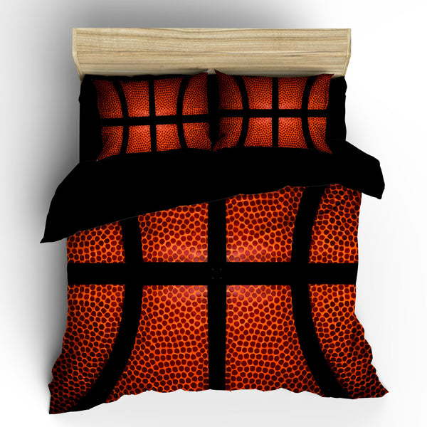 Custom Basketball bedding- background basketball image-Can Personalize - Toddler, Twin, Full/Queen or King Size