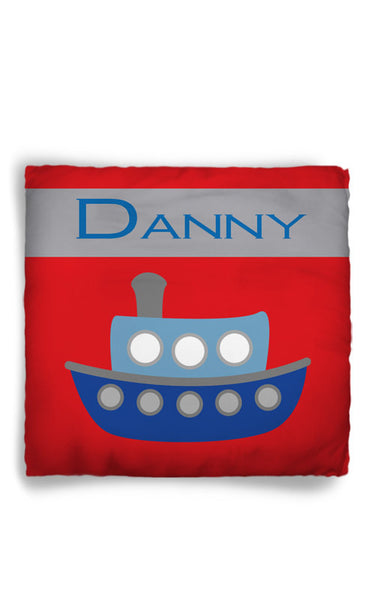 Personalized Throw Pillow Boat Theme  - Custom with your Name or Initials - two sizes available