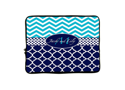 "Personalized Monogram iPad™ or NetBook Laptop Sleeves - 10""- Any design and many colors available"