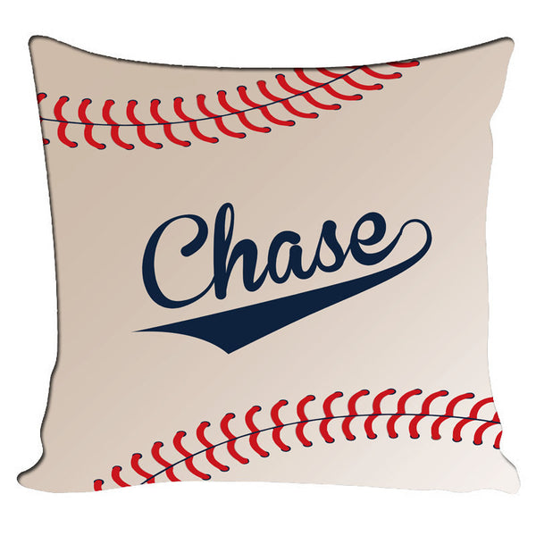Personalized Throw Pillow Baseball Theme - Custom with your Name or Initials - two sizes available