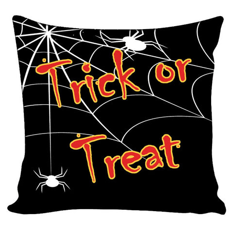 Personalized Throw Pillow Trick or Treat Halloween Theme - Custom with your Name or Initials - two sizes available