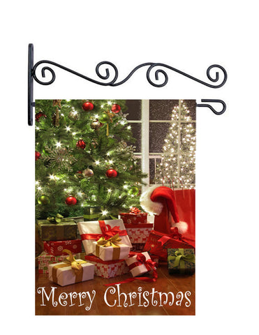 Merry Christmas- Custom Yard Flag - 13.5 by 18.5 inches -Personalized with your name and or initial