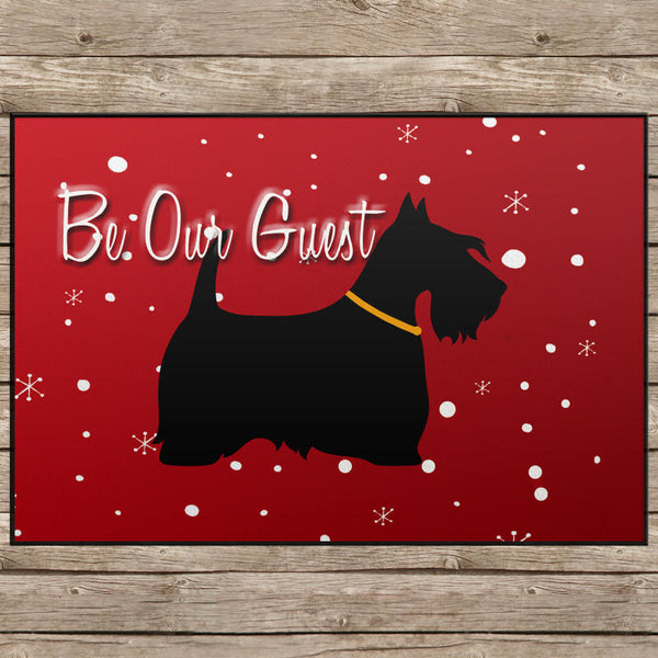 Scotty Dog Be Our Guest Door Mat - 24x18""