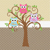 Mod Owls and Tree with Personalization