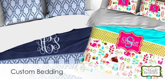 Custom Personalized Bedding, Duvet Covers, Comforters and Blankets