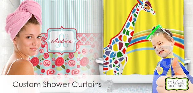 Custom Personalized Shower Curtains and Bath Room Decor
